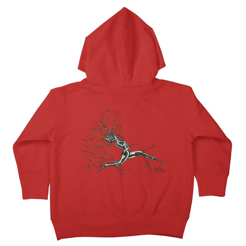 Tree Dancer 4 - Earth and Fire Kids Toddler Zip-Up Hoody by Anapalana by Tona Williams Artist Shop
