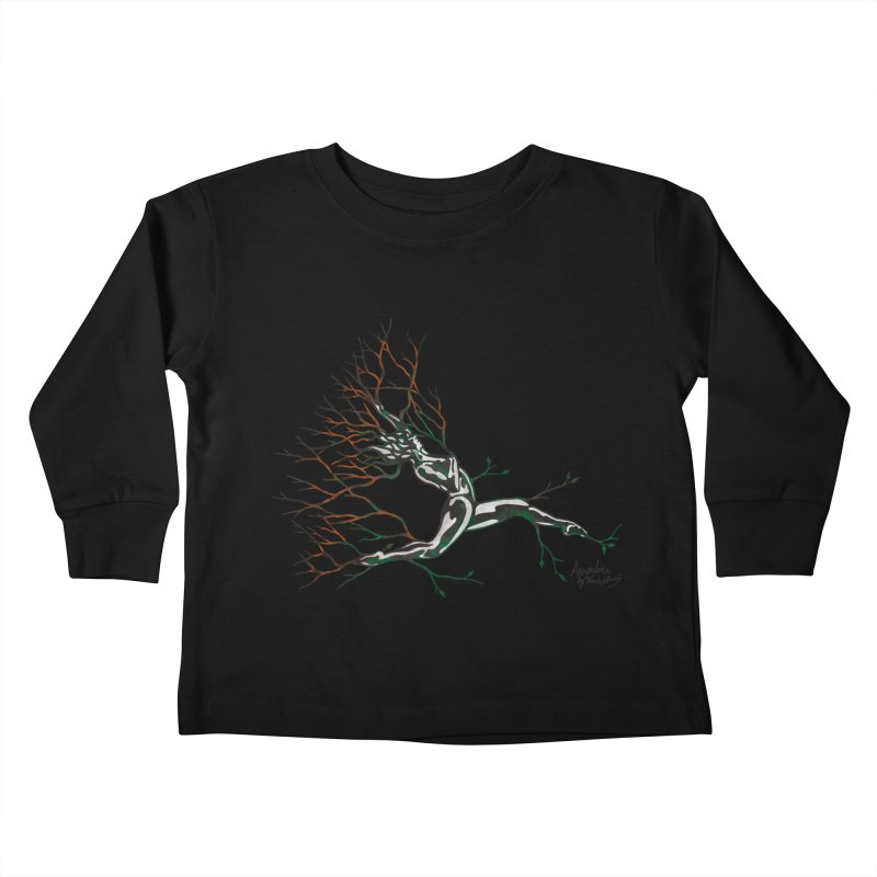 Tree Dancer 4 - Earth and Fire Kids Toddler Longsleeve T-Shirt by Anapalana by Tona Williams Artist Shop