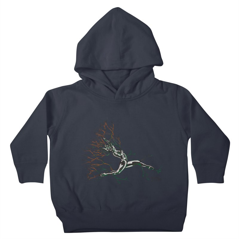 Tree Dancer 4 - Earth and Fire Kids Toddler Pullover Hoody by Anapalana by Tona Williams Artist Shop