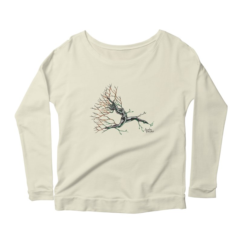 Tree Dancer 4 - Earth and Fire Women's Scoop Neck Longsleeve T-Shirt by Anapalana by Tona Williams Artist Shop