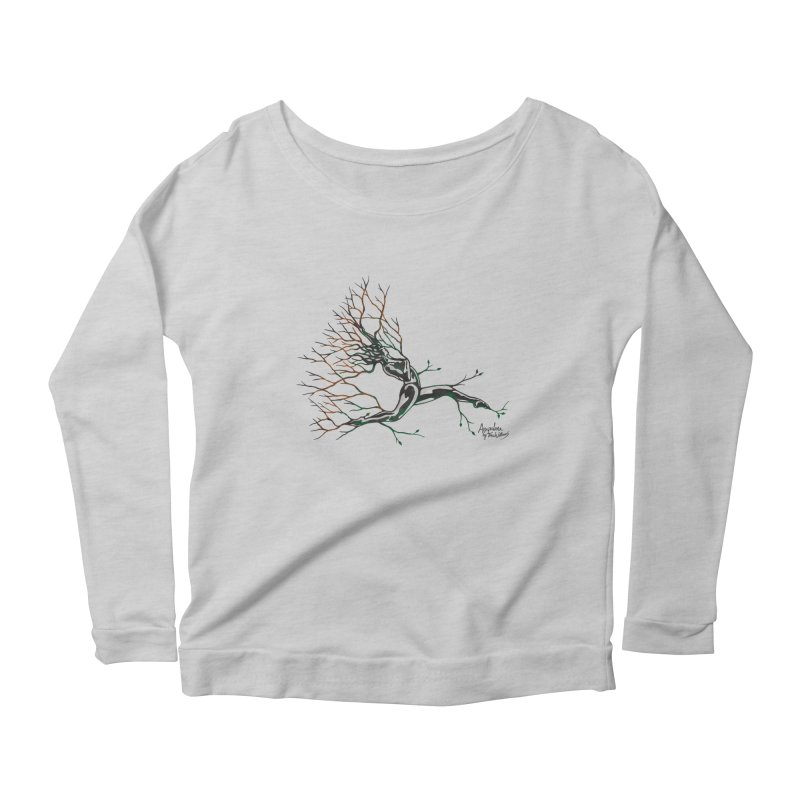 Tree Dancer 4 - Earth and Fire Women's Longsleeve Scoopneck  by Anapalana by Tona Williams Artist Shop