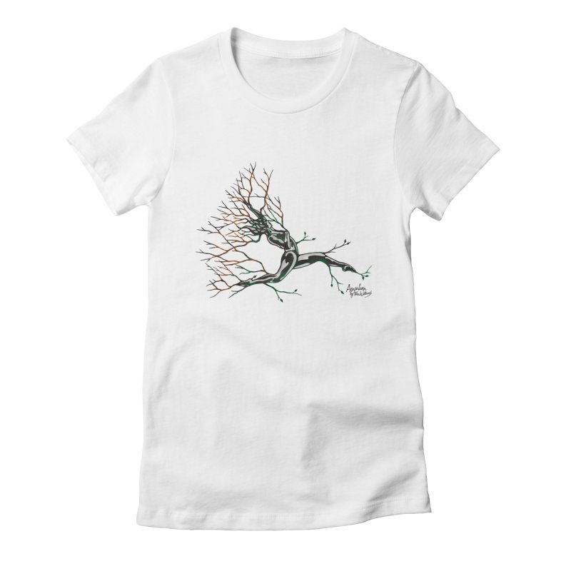 Tree Dancer 4 - Earth and Fire Women's Fitted T-Shirt by Anapalana by Tona Williams Artist Shop