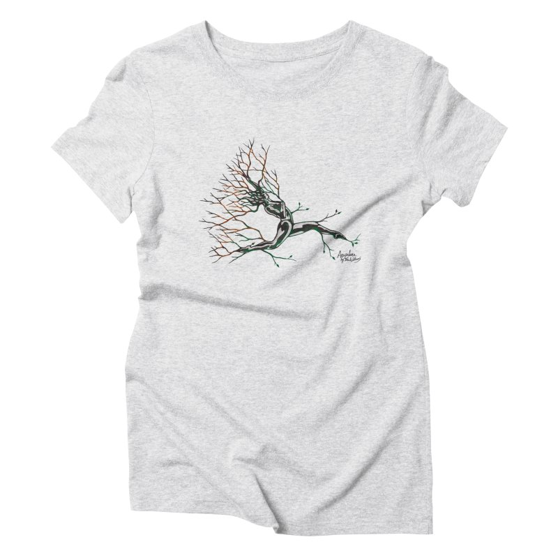 Tree Dancer 4 - Earth and Fire Women's Triblend T-Shirt by Anapalana by Tona Williams Artist Shop