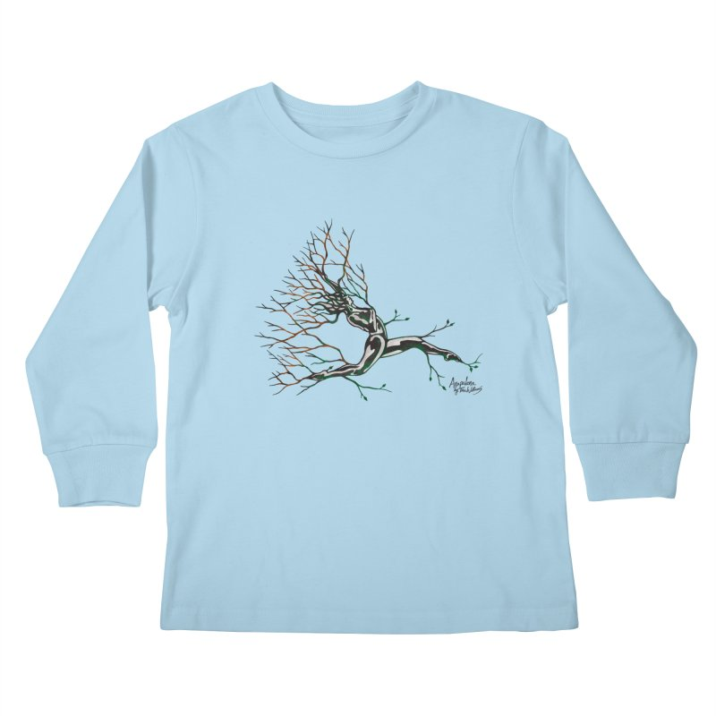 Tree Dancer 4 - Earth and Fire Kids Longsleeve T-Shirt by Anapalana by Tona Williams Artist Shop