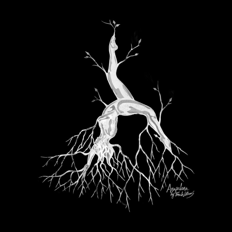 Tree Dancer 3 - White Tones Women's T-Shirt by Anapalana by Tona Williams Artist Shop