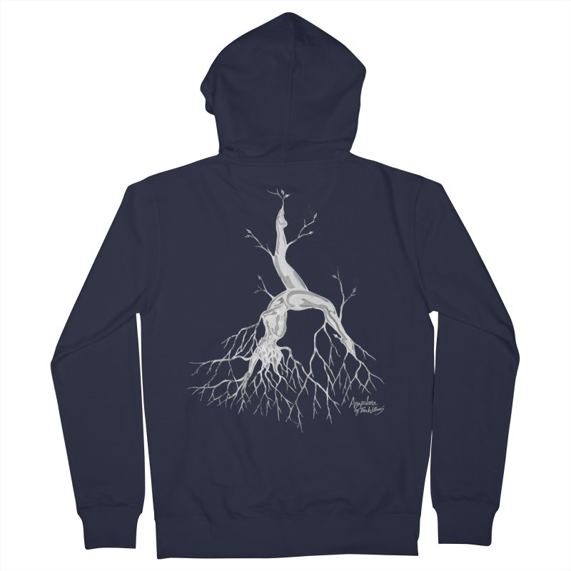 Tree Dancer 3 - White Tones Women's Zip-Up Hoody by Anapalana by Tona Williams Artist Shop
