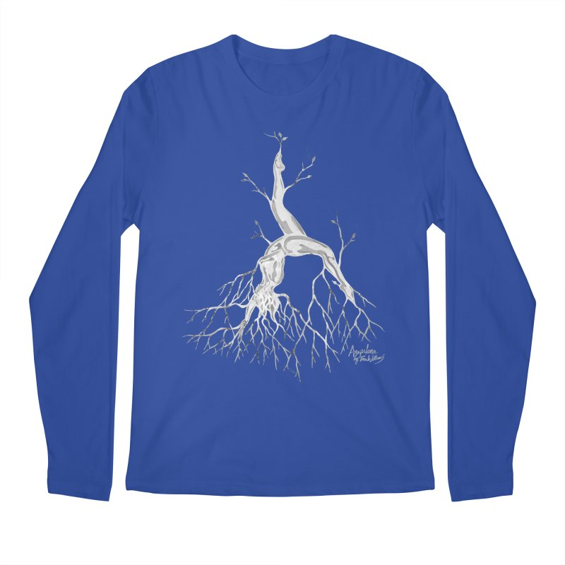 Tree Dancer 3 - White Tones Men's Regular Longsleeve T-Shirt by Anapalana by Tona Williams Artist Shop