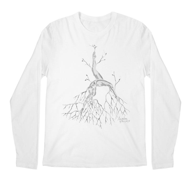 Tree Dancer 3 - White Tones Men's Regular Longsleeve T-Shirt by Anapalana by Tona Williams Artist Shop