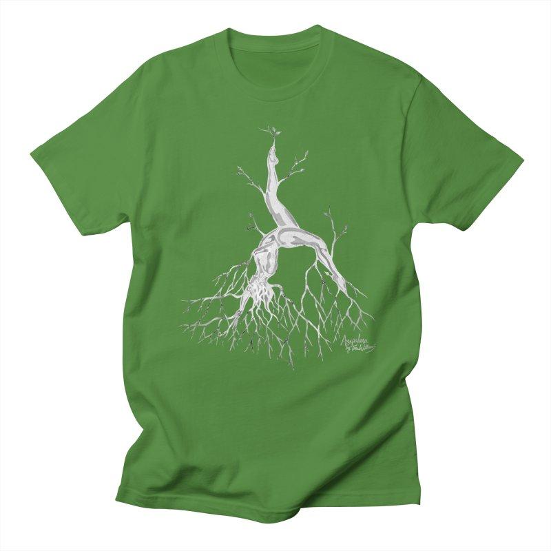 Tree Dancer 3 - White Tones Men's T-shirt by Anapalana by Tona Williams Artist Shop