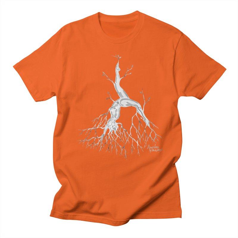 Tree Dancer 3 - White Tones Men's Regular T-Shirt by Anapalana by Tona Williams Artist Shop