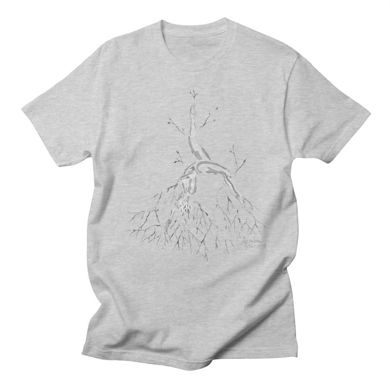 Tree Dancer 3 - White Tones Men's Regular T-Shirt by Anapalana by Tona Williams Artist Shop