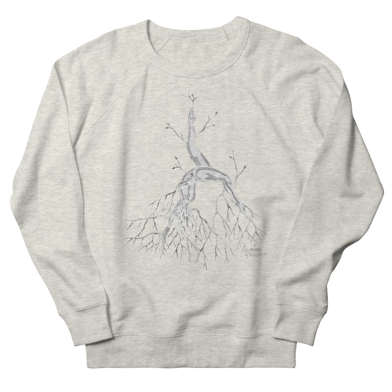 Tree Dancer 3 - White Tones Women's French Terry Sweatshirt by Anapalana by Tona Williams Artist Shop