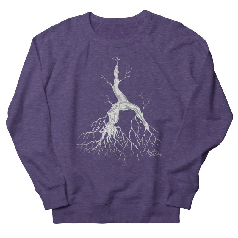 Tree Dancer 3 - White Tones Men's French Terry Sweatshirt by Anapalana by Tona Williams Artist Shop