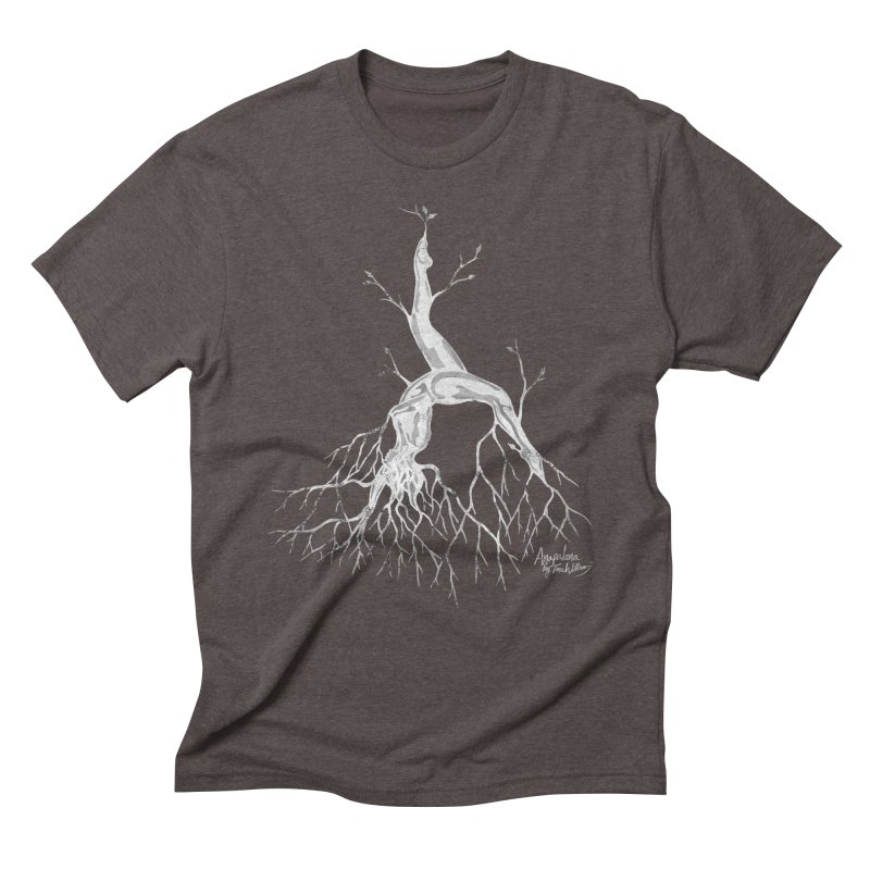Tree Dancer 3 - White Tones Men's Triblend T-Shirt by Anapalana by Tona Williams Artist Shop