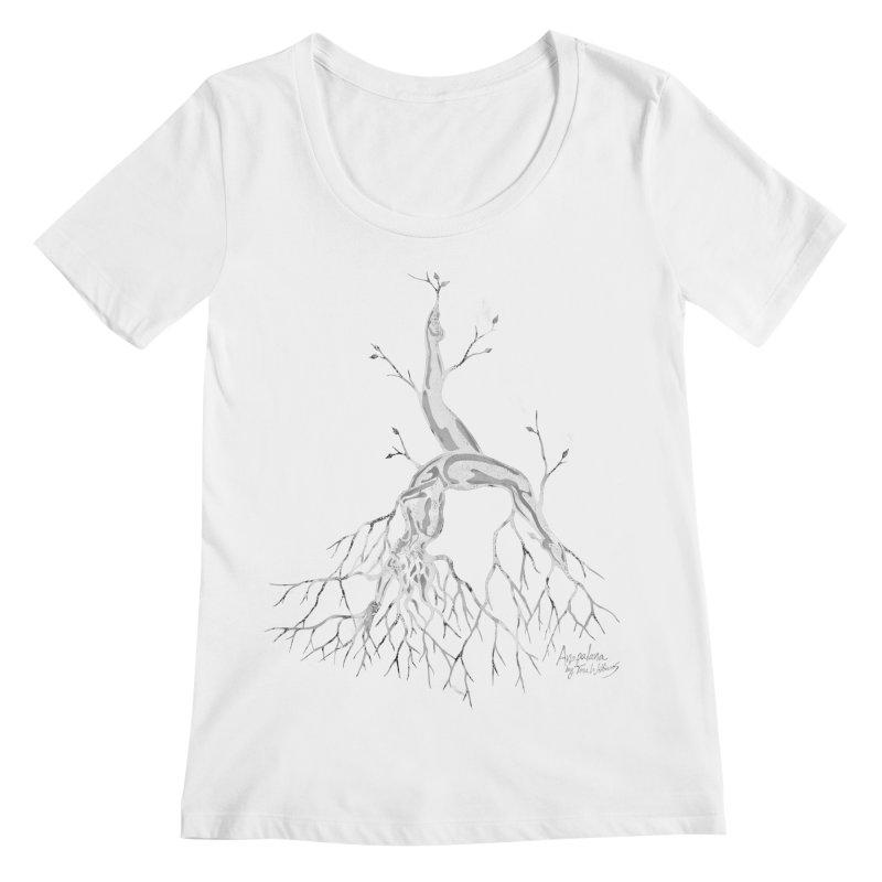 Tree Dancer 3 - White Tones Women's Regular Scoop Neck by Anapalana by Tona Williams Artist Shop