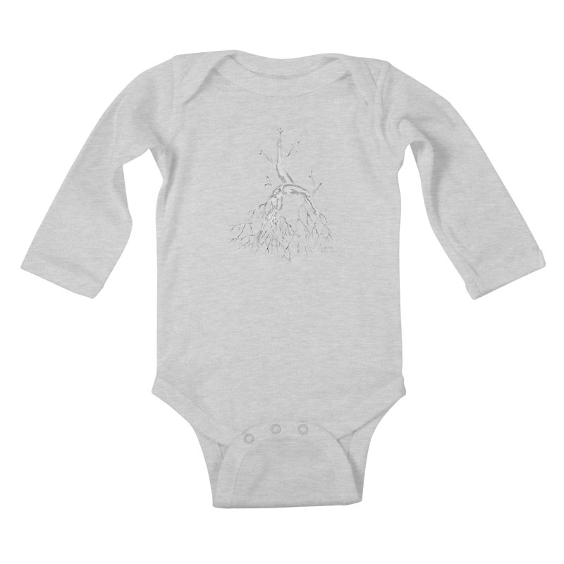 Tree Dancer 3 - White Tones Kids Baby Longsleeve Bodysuit by Anapalana by Tona Williams Artist Shop