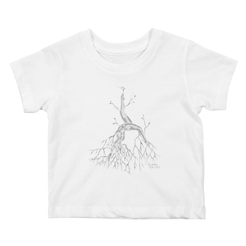 Tree Dancer 3 - White Tones Kids Baby T-Shirt by Anapalana by Tona Williams Artist Shop