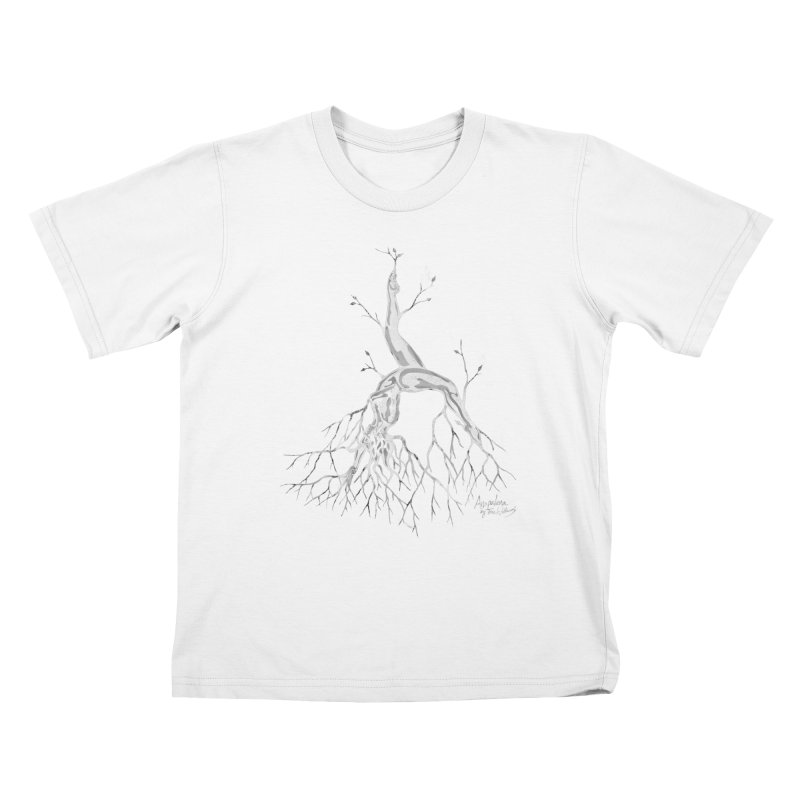 Tree Dancer 3 - White Tones Kids T-Shirt by Anapalana by Tona Williams Artist Shop
