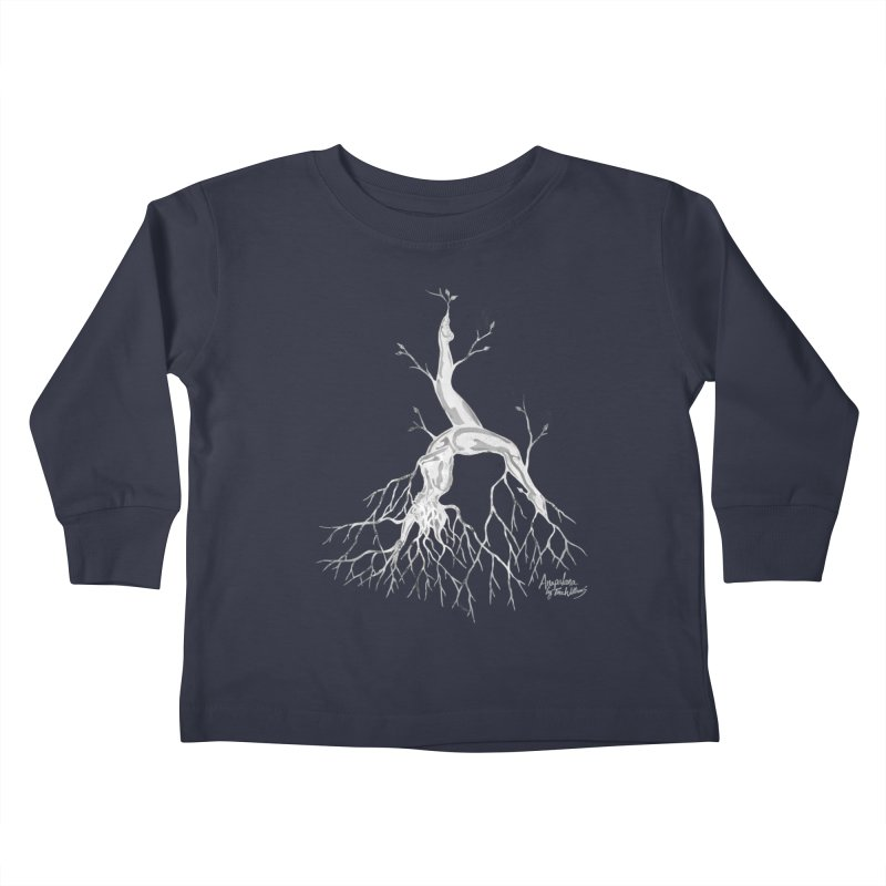 Tree Dancer 3 - White Tones Kids Toddler Longsleeve T-Shirt by Anapalana by Tona Williams Artist Shop