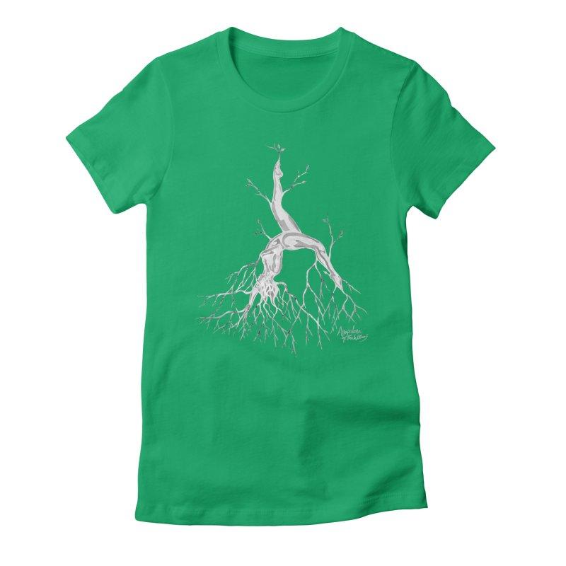 Tree Dancer 3 - White Tones Women's T-Shirt by Anapalana by Tona Williams Artist Shop