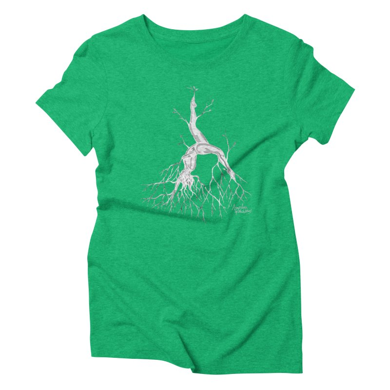 Tree Dancer 3 - White Tones Women's Triblend T-shirt by Anapalana by Tona Williams Artist Shop