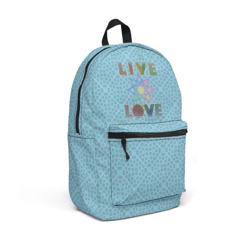 Live Love Octagram Accessories Backpack Bag by An Authentic Piece