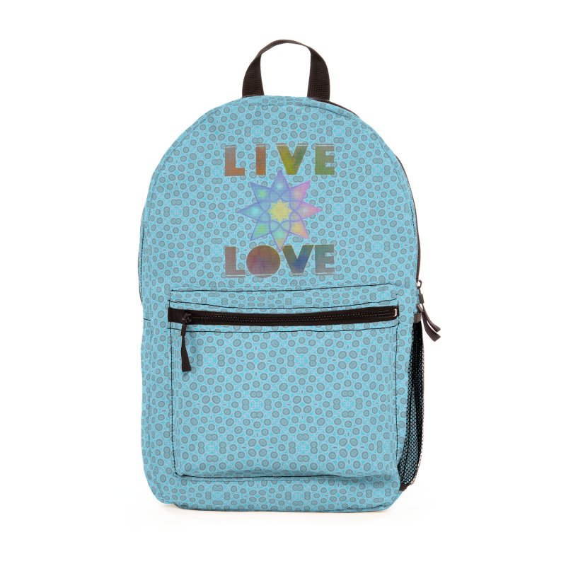 Live Love Octagram Accessories Bag by An Authentic Piece
