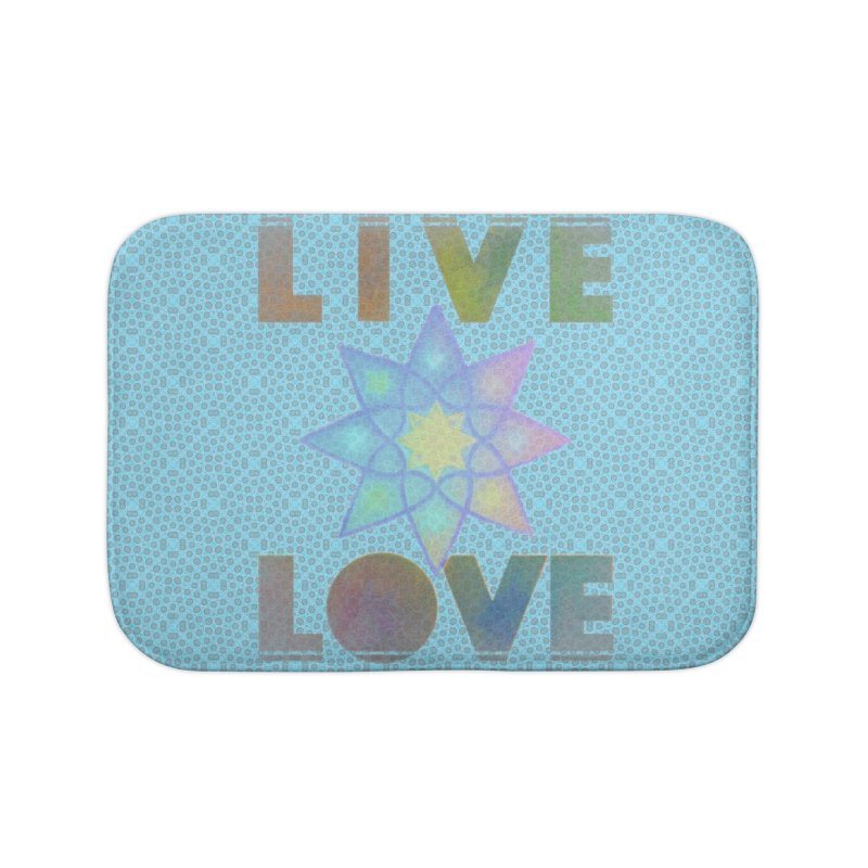 Live Love Octagram Home Bath Mat by An Authentic Piece