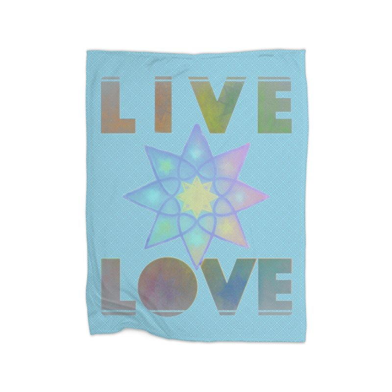 Live Love Octagram Home Fleece Blanket Blanket by An Authentic Piece