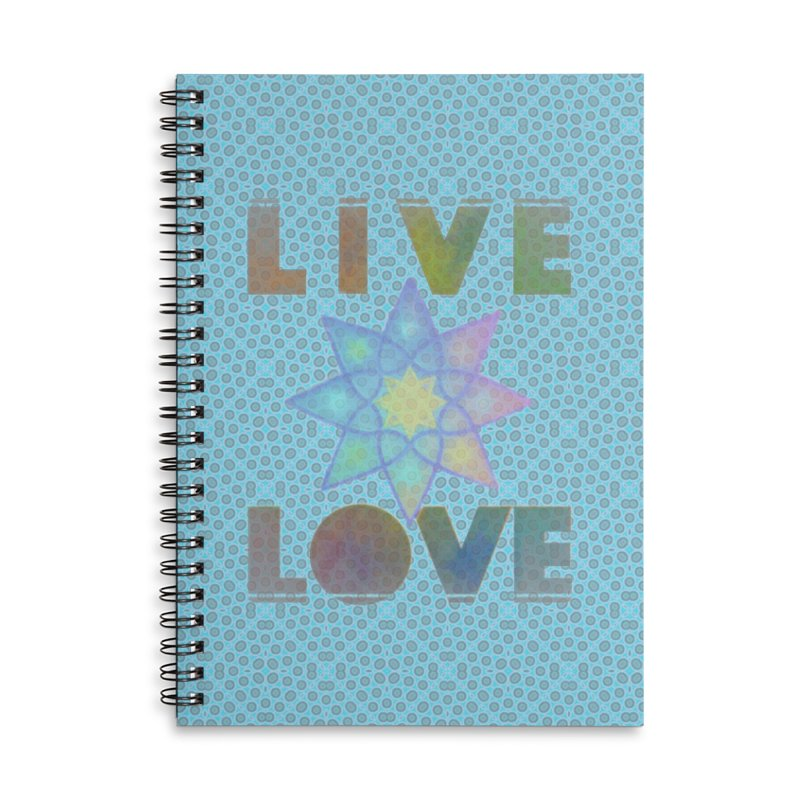 Live Love Octagram Accessories Lined Spiral Notebook by An Authentic Piece