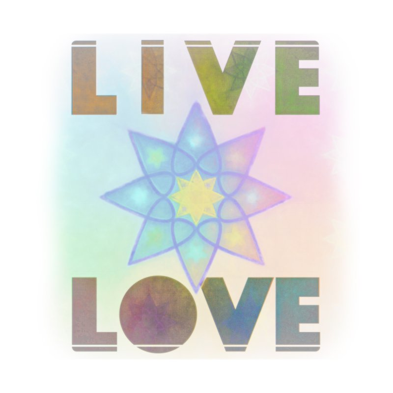 Live Love Octagram Women's T-Shirt by An Authentic Piece