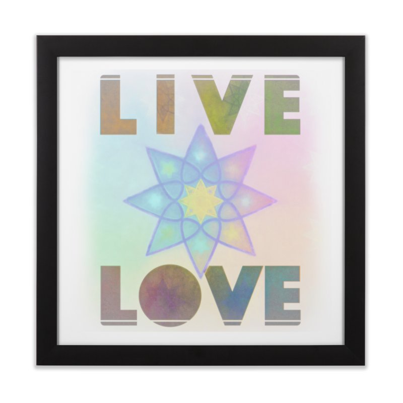 Live Love Octagram Home Framed Fine Art Print by An Authentic Piece