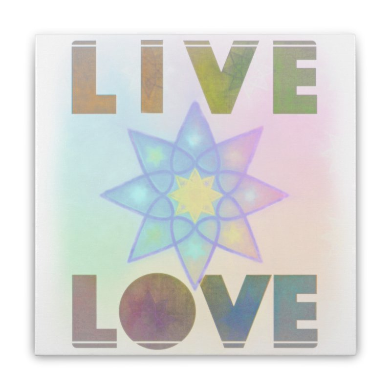 Live Love Octagram Home Stretched Canvas by An Authentic Piece