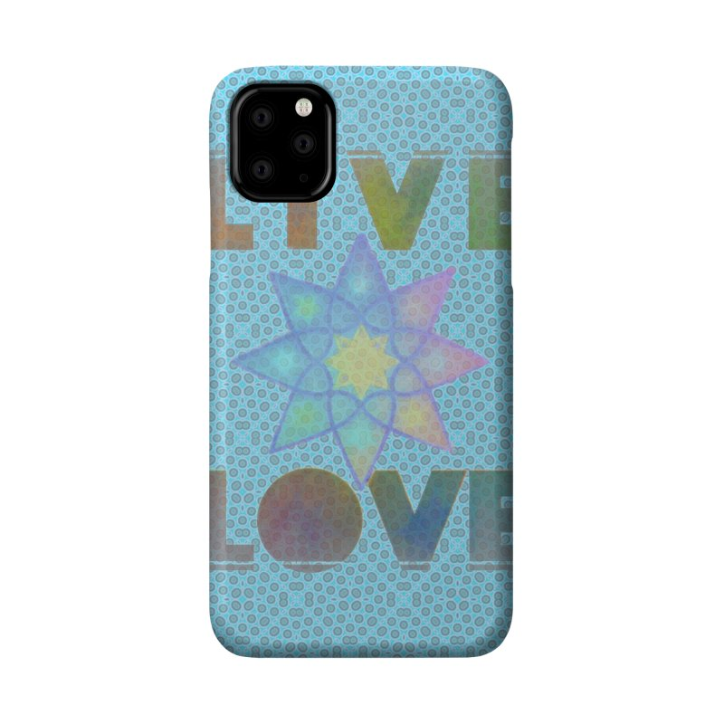 Live Love Octagram Accessories Phone Case by An Authentic Piece