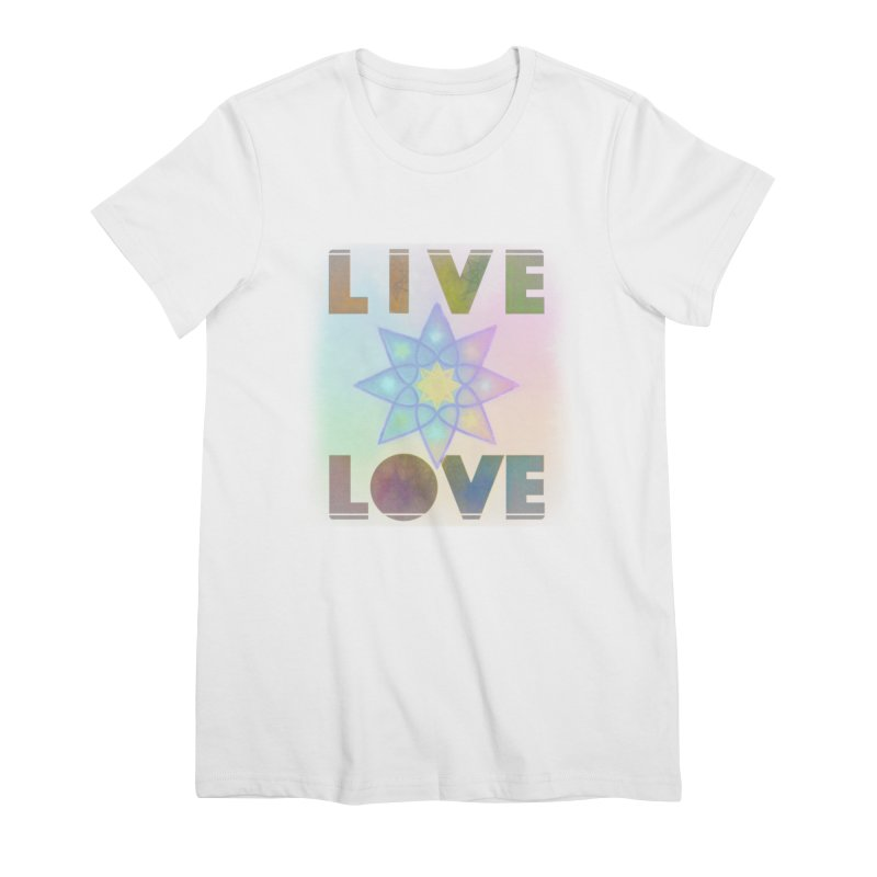Live Love Octagram Women's Premium T-Shirt by An Authentic Piece