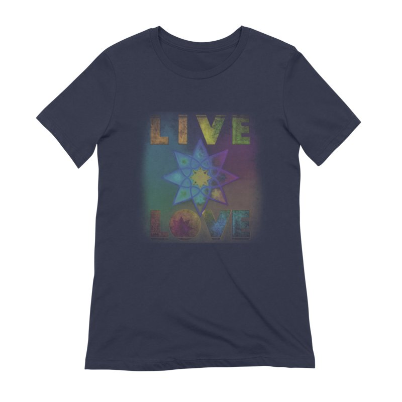 Live Love Octagram Women's Extra Soft T-Shirt by An Authentic Piece