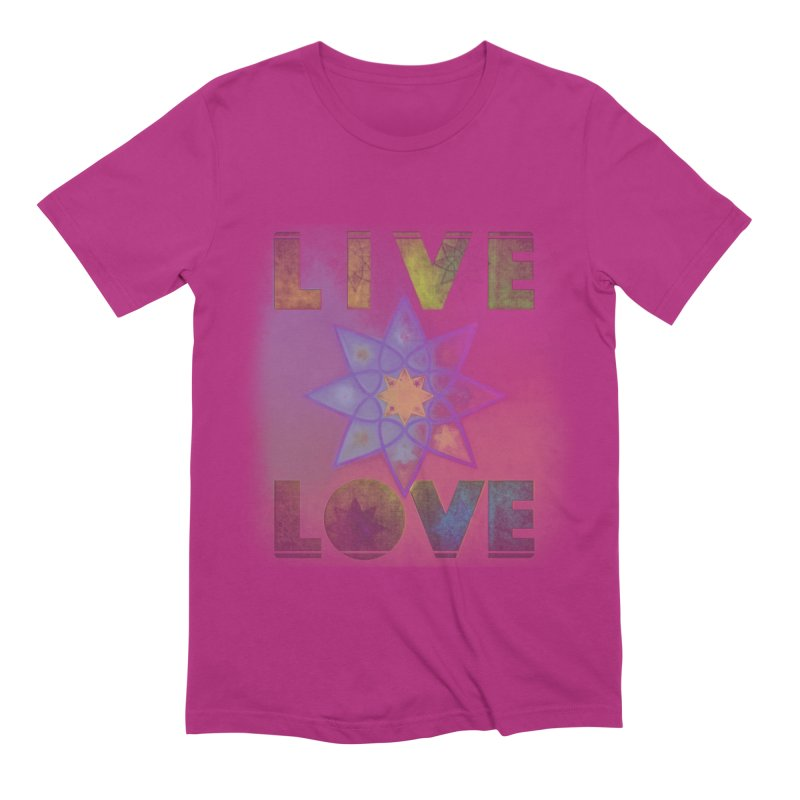 Live Love Octagram Men's Extra Soft T-Shirt by An Authentic Piece