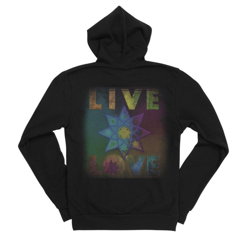 Live Love Octagram Women's Sponge Fleece Zip-Up Hoody by An Authentic Piece