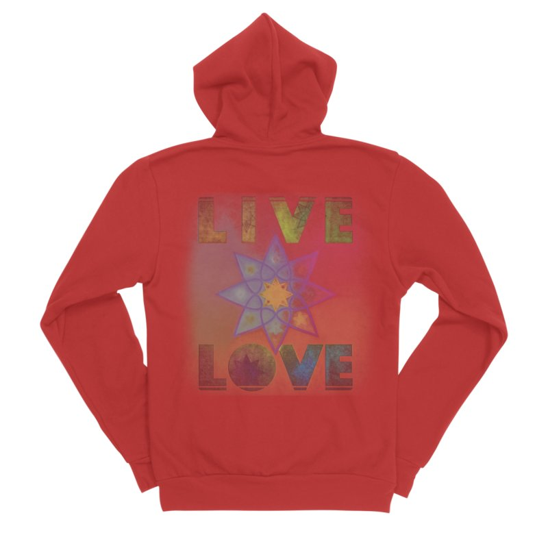 Live Love Octagram Women's Sponge Fleece Zip-Up Hoody by An Authentic Piece