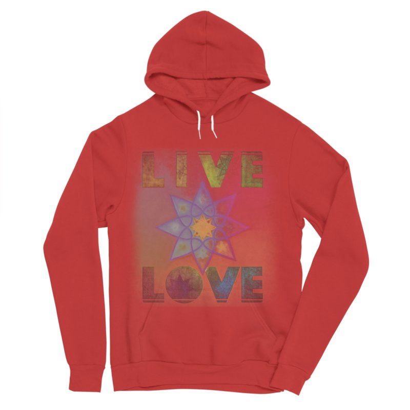 Live Love Octagram Men's Pullover Hoody by An Authentic Piece