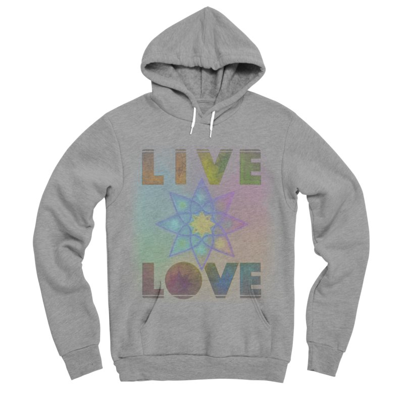 Live Love Octagram Women's Sponge Fleece Pullover Hoody by An Authentic Piece