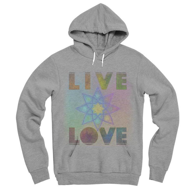 Live Love Octagram Men's Sponge Fleece Pullover Hoody by An Authentic Piece