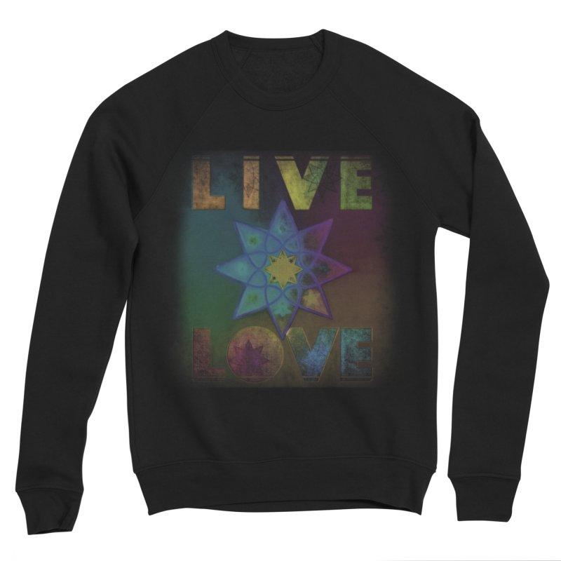 Live Love Octagram Men's Sponge Fleece Sweatshirt by An Authentic Piece