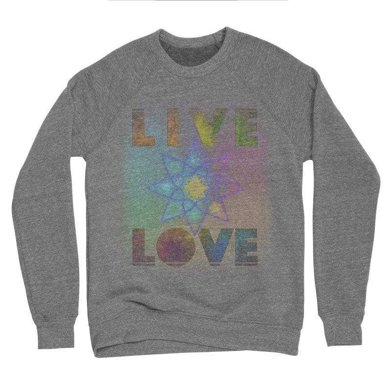 Live Love Octagram Women's Sponge Fleece Sweatshirt by An Authentic Piece
