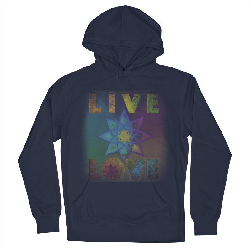 Live Love Octagram Women's French Terry Pullover Hoody by An Authentic Piece