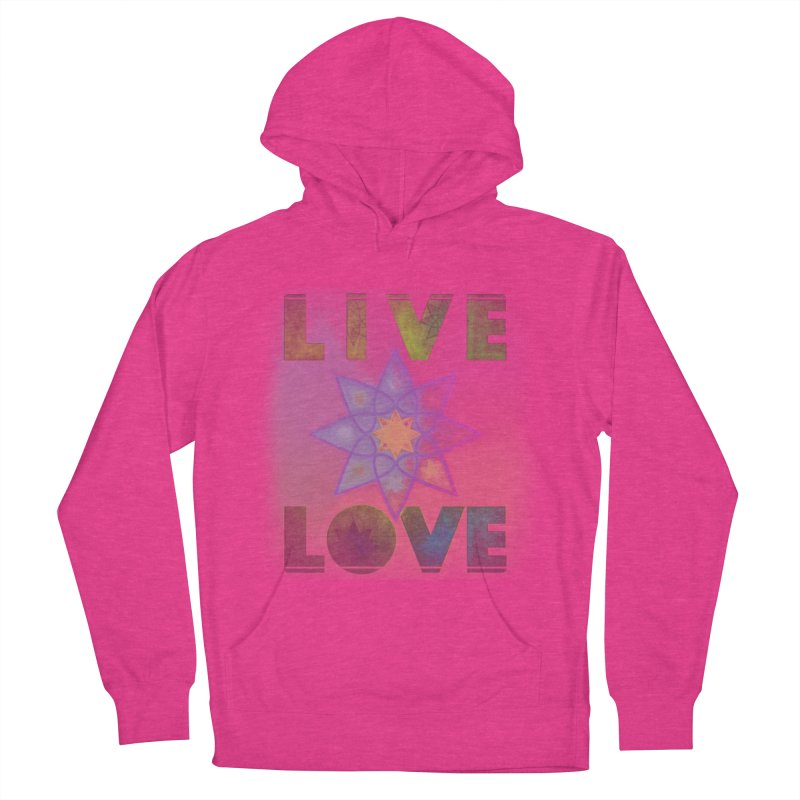 Live Love Octagram Men's French Terry Pullover Hoody by An Authentic Piece