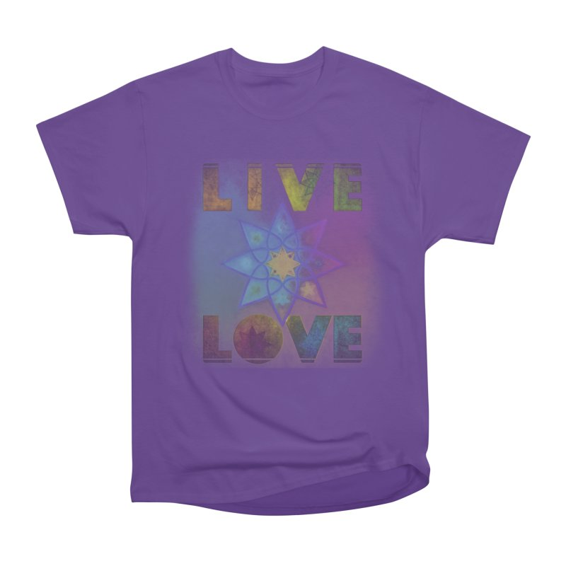 Live Love Octagram Men's Heavyweight T-Shirt by An Authentic Piece