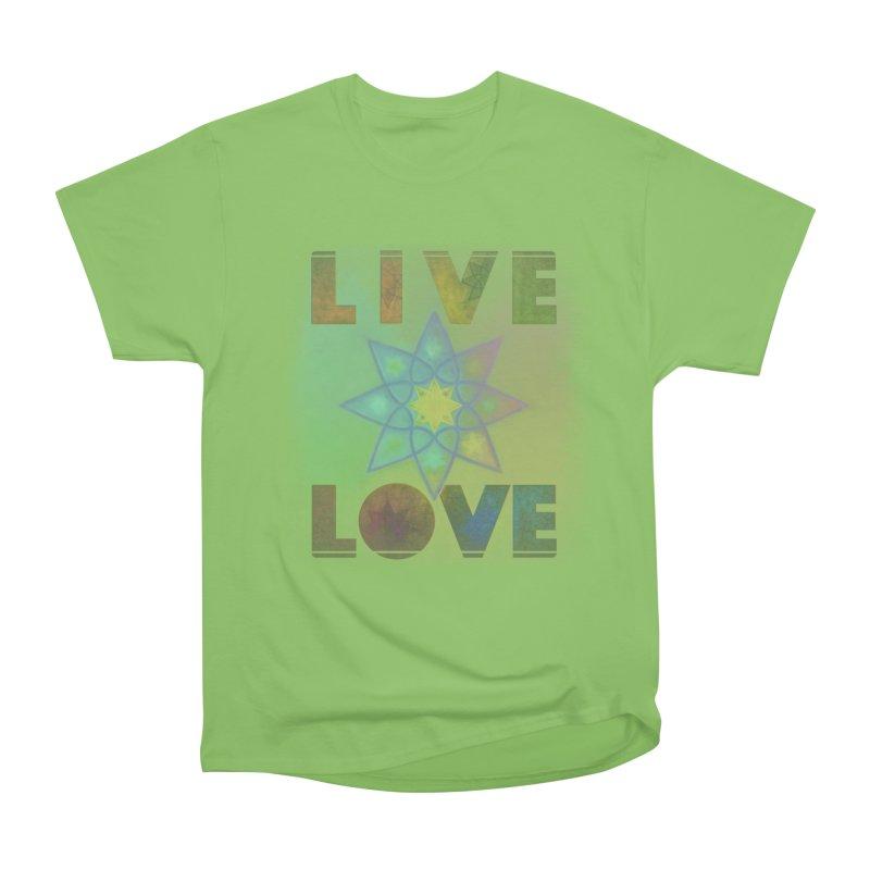 Live Love Octagram Men's Heavyweight T-Shirt by An Authentic Piece