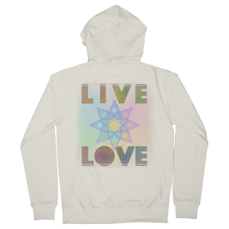 Live Love Octagram Men's French Terry Zip-Up Hoody by An Authentic Piece