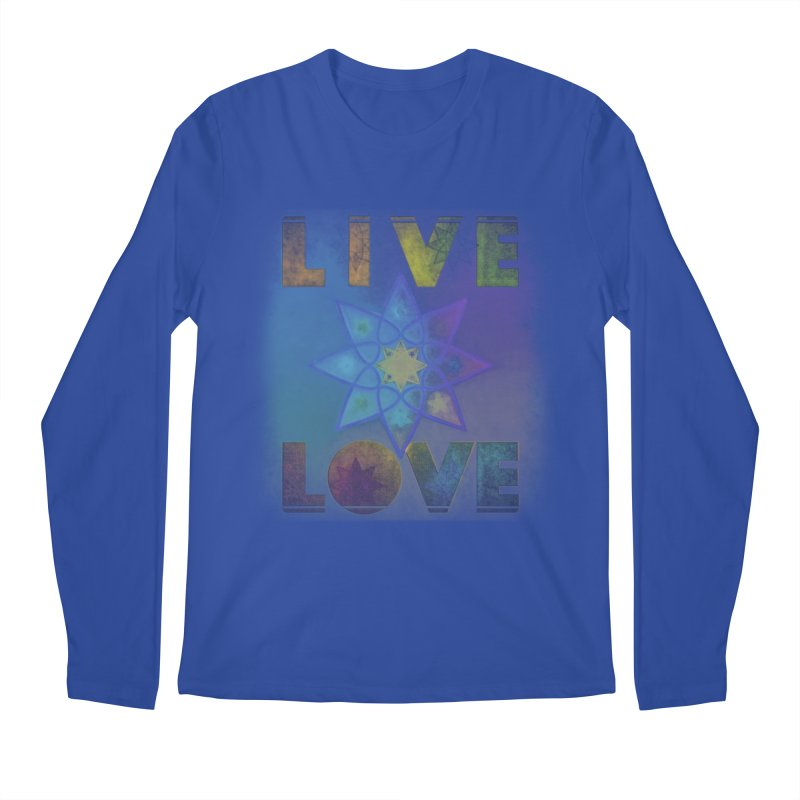 Live Love Octagram Men's Regular Longsleeve T-Shirt by An Authentic Piece